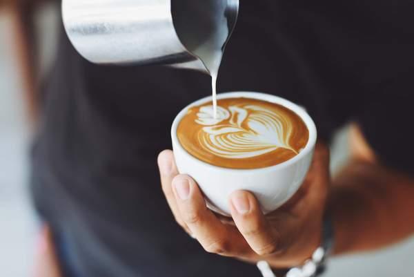 Kaffee mit Milchschaum