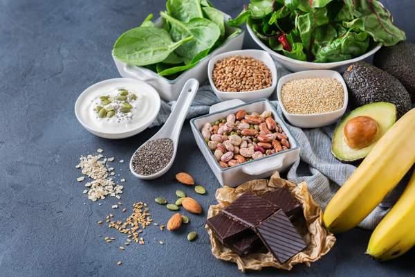 Gesunde Lebensmittel mit viel Magnesium