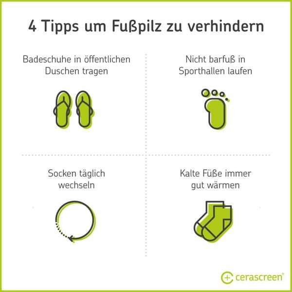 Tipps. um Fusspilz vorzubeugen